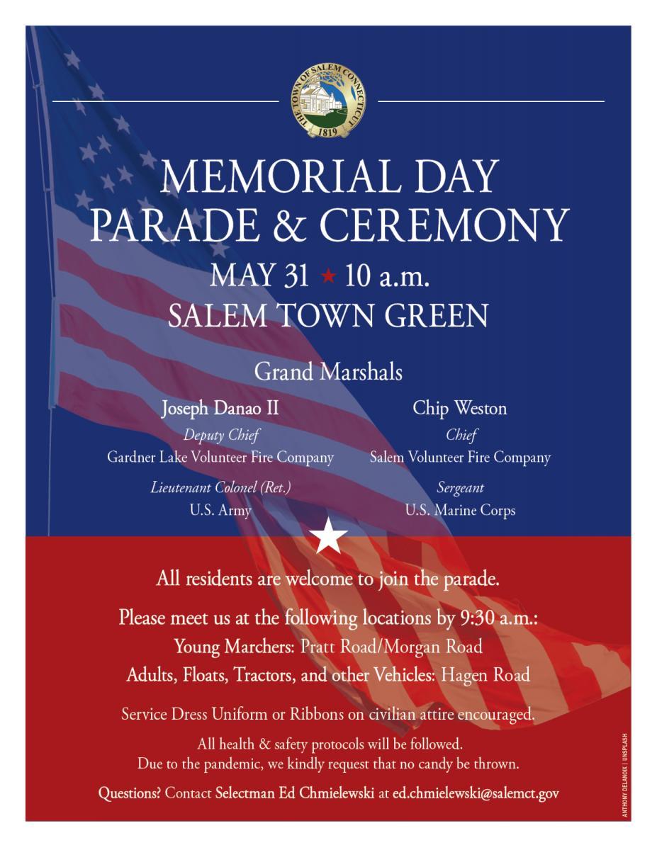 Salem Mo Christmas Parade 2021 2021 Salem Memorial Day Parade Ceremony Monday May 31 Salem Ct